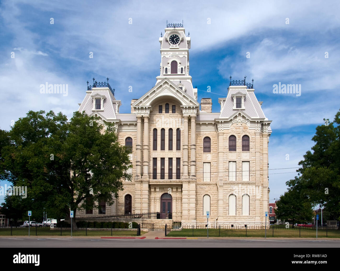 Hill County Courthouse - Hillsboro, Texas - Stock Image