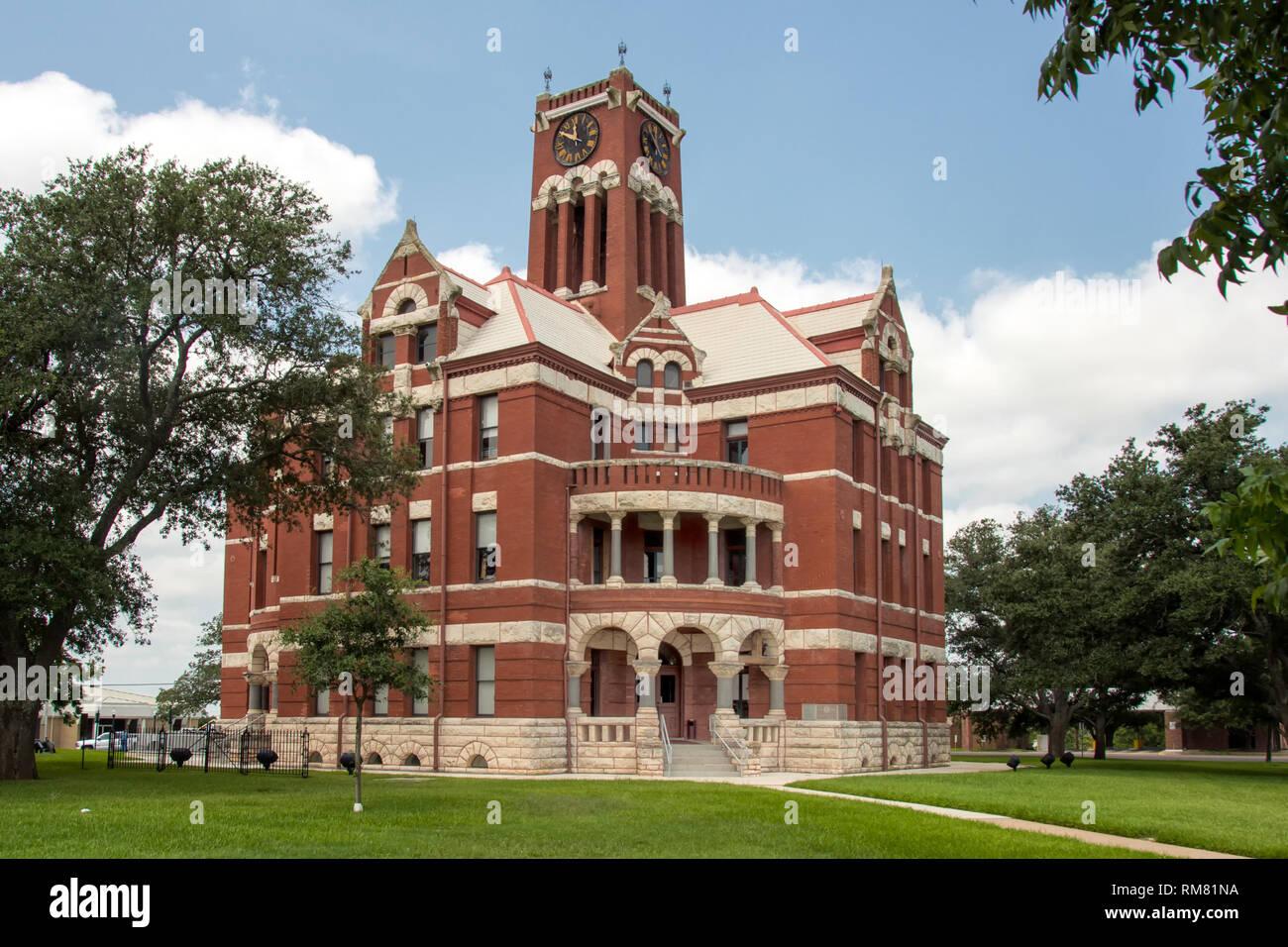 Lee County Courthouse - Giddings, Texas - Stock Image
