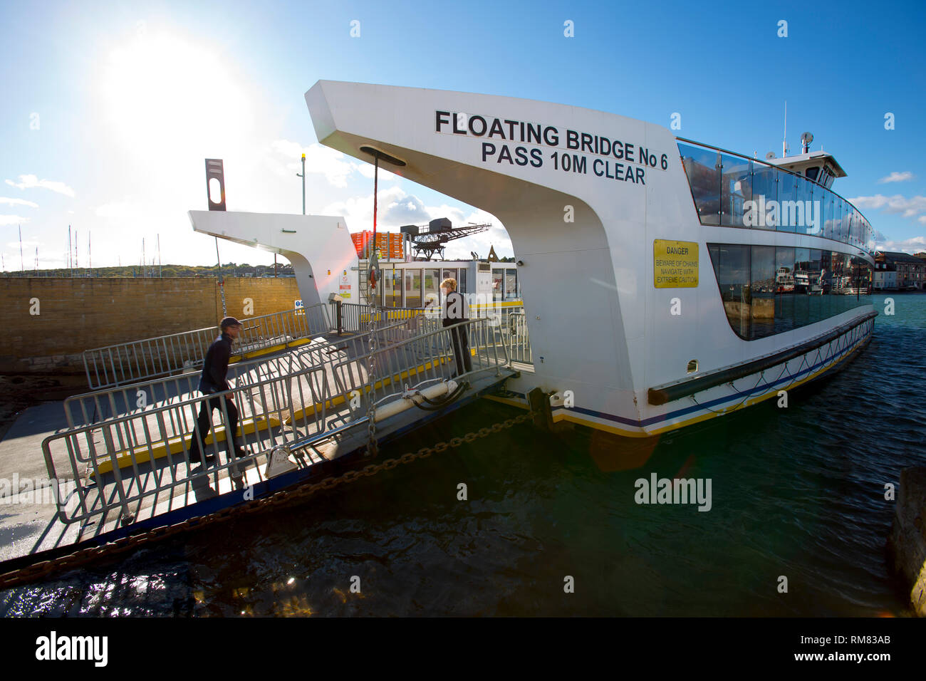 Controversial, Floating Bridge, East Cowes, Isle of Wight, England, UK, - Stock Image