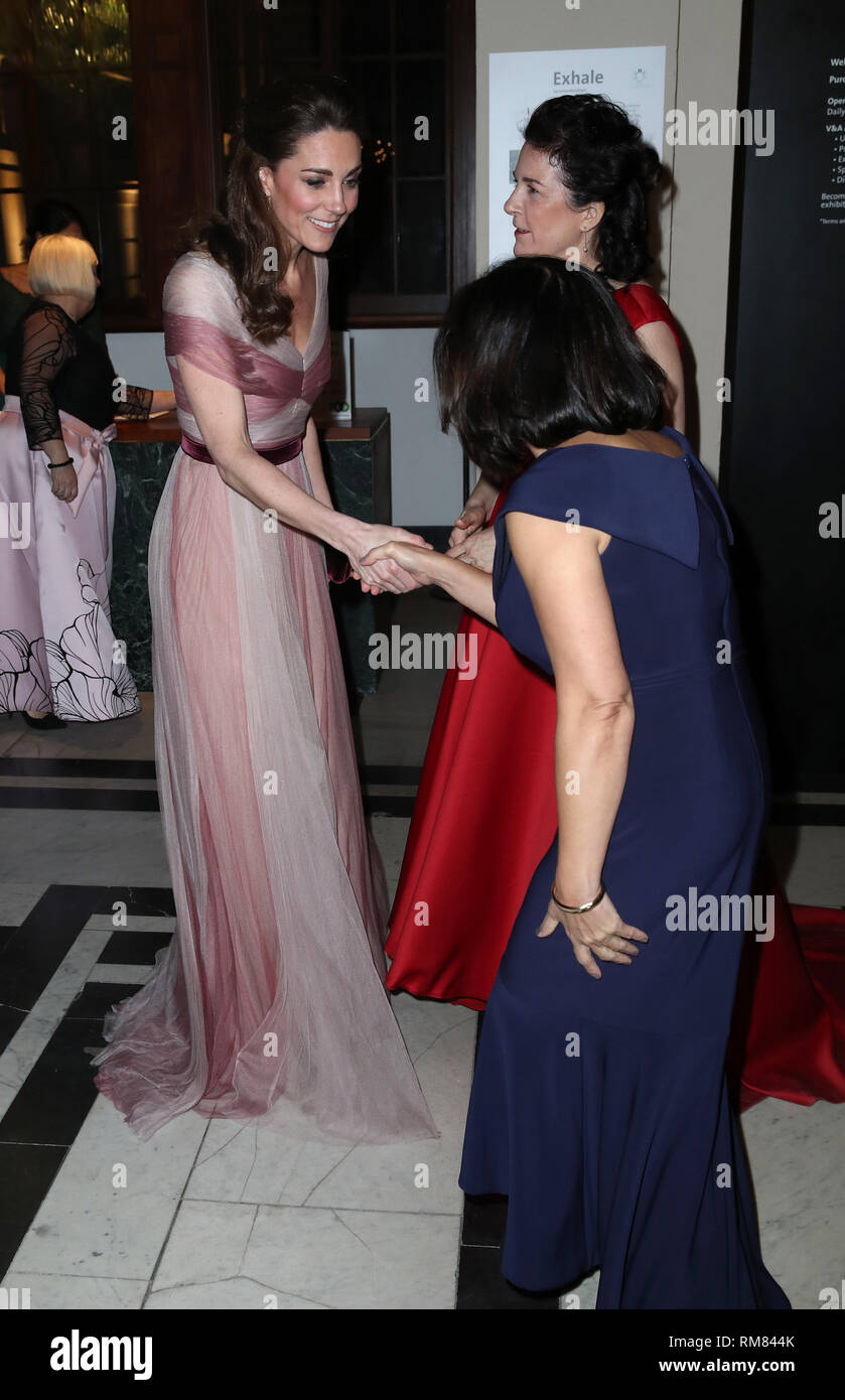 3617c0279 The Duchess of Cambridge with Amanda Pullinger (red dress)