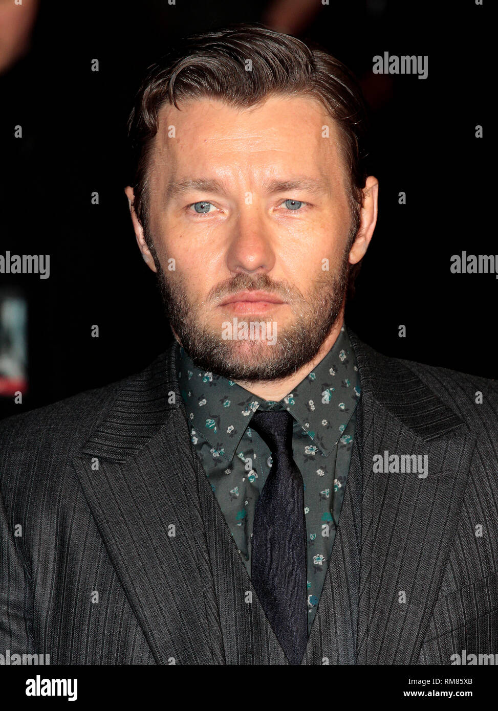 Dec 3, 2014 - Exodus: Gods And Kings World Premiere - VIP Red Carpet Arrivals at Odeon,  Leicester Square, London Pictured: Joel Edgerton - Stock Image