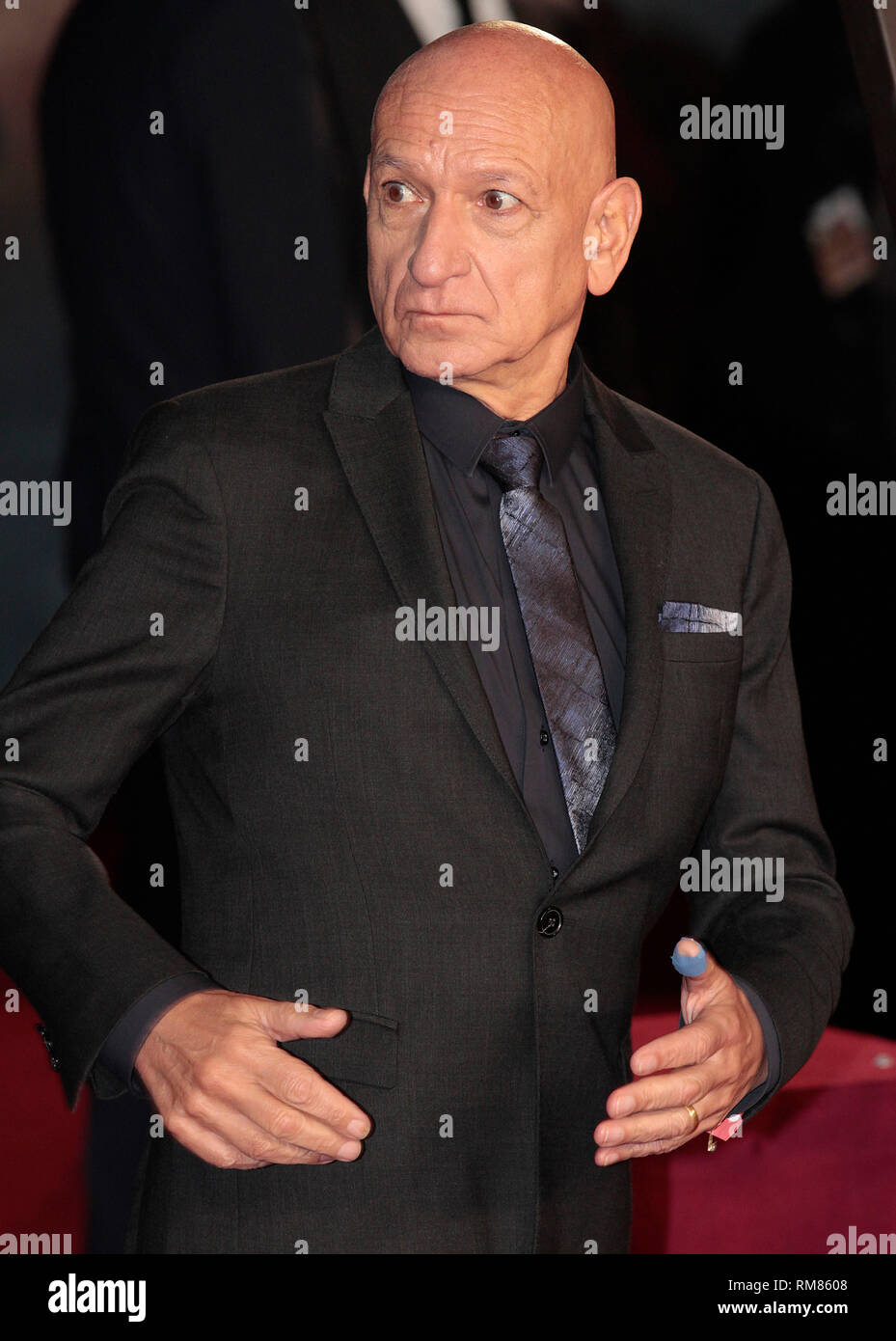 Dec 3, 2014 - Exodus: Gods And Kings World Premiere - VIP Red Carpet Arrivals at Odeon,  Leicester Square, London Pictured: Ben Kingsley - Stock Image