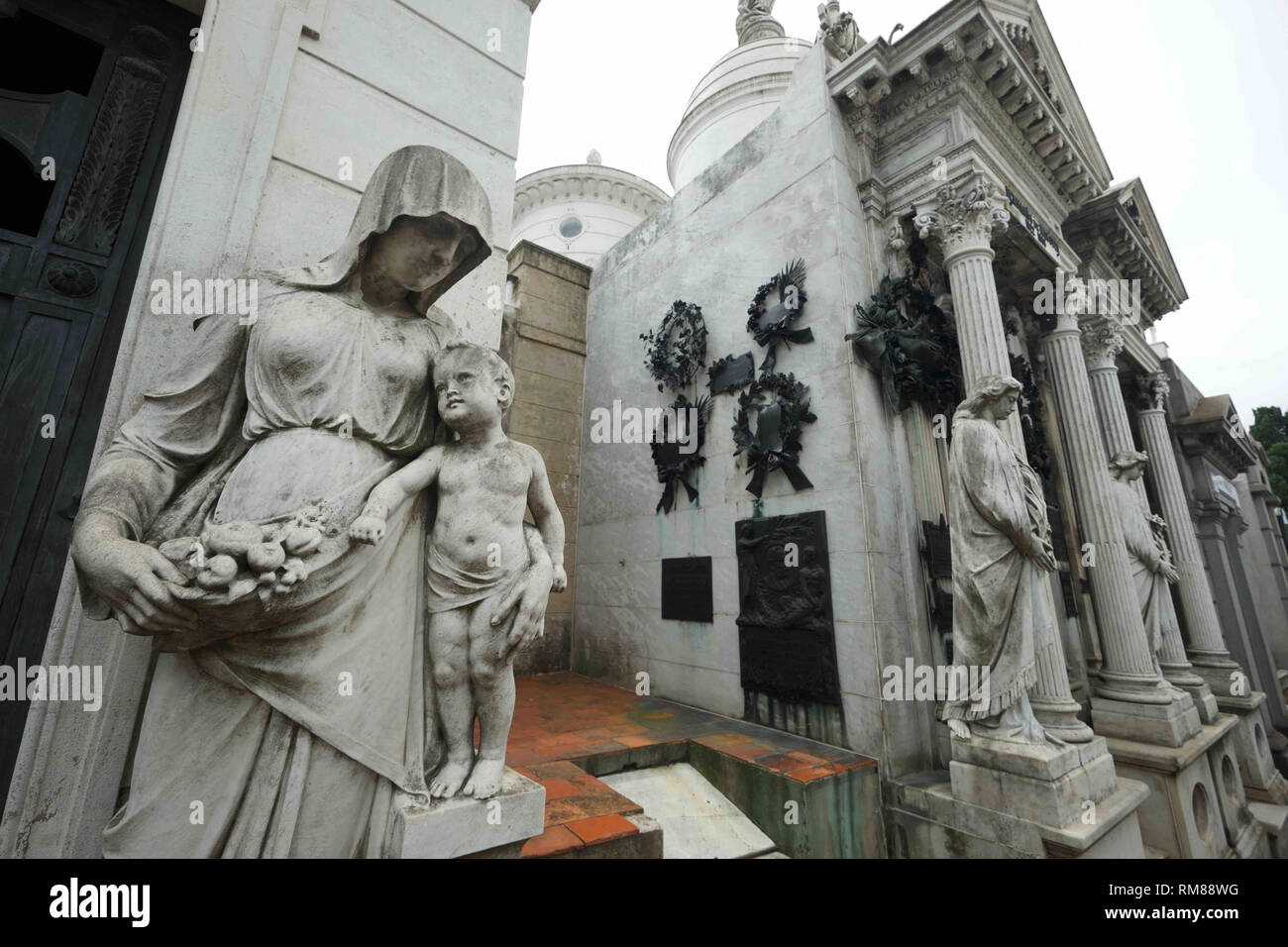 Recoleta cemetery is the most visited site in Buenos Aires, Argentina - Stock Image