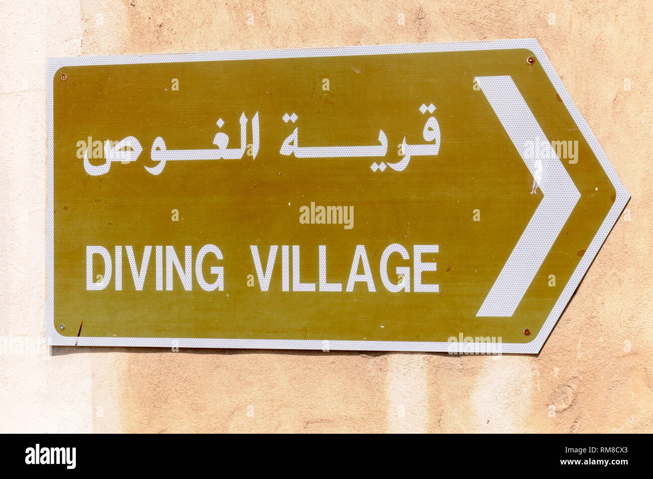 Doing village as part of the TDIC Diving Centre in Dubai in the