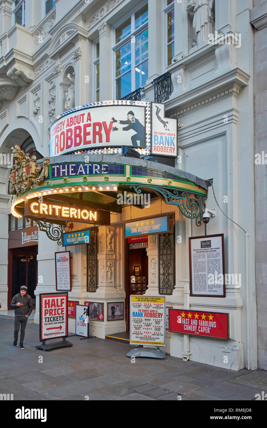 LONDON PICCADILLY CIRCUS THE CRITERION THEATRE AND ENTRANCE - Stock Image