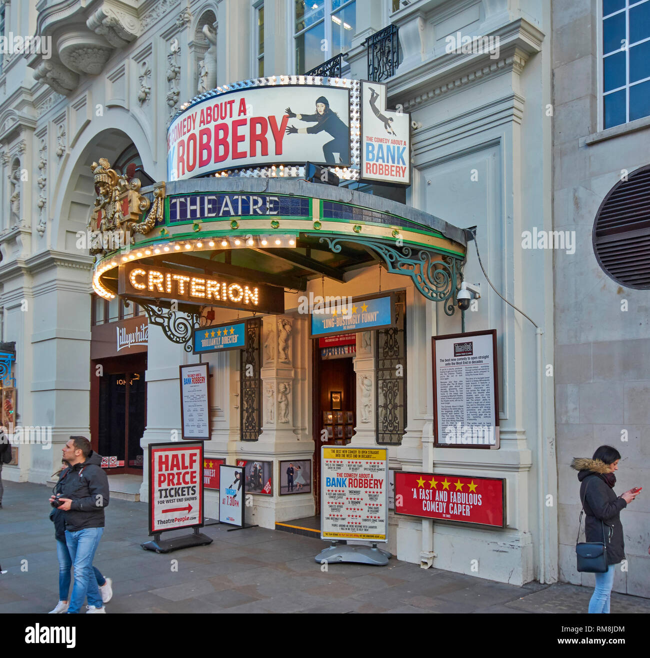 LONDON PICCADILLY CIRCUS THE WEST END CRITERION THEATRE AND ENTRANCE - Stock Image