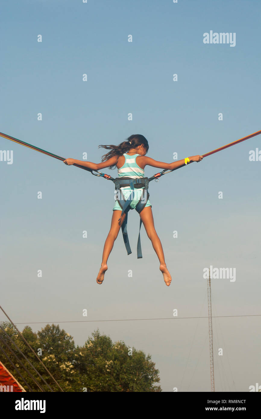 15aac3a48d2f Girl bungee jumping Stock Photo  236220344 - Alamy