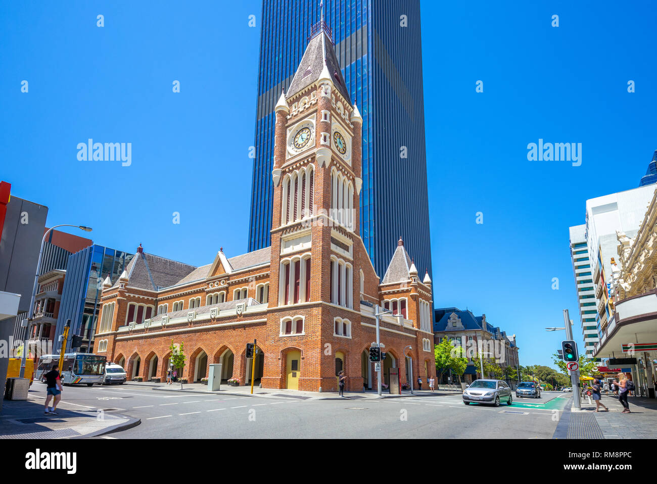 Perth Town Hall in Australia built by convicts - Stock Image