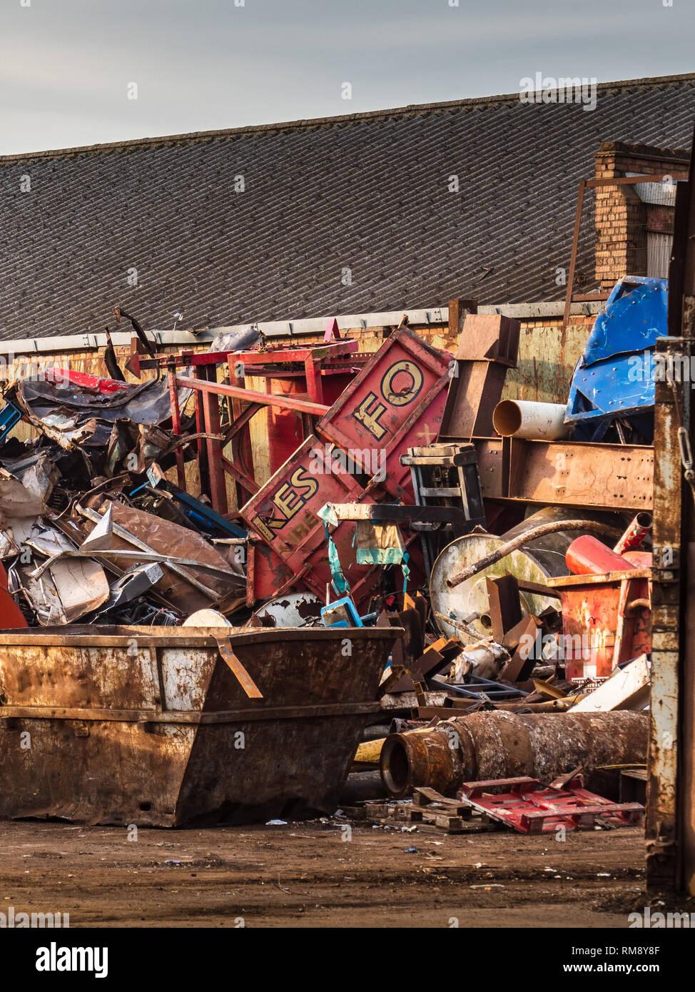 Scrapyard - Metal Recycling Yard - recycling scrap metals Stock Photo