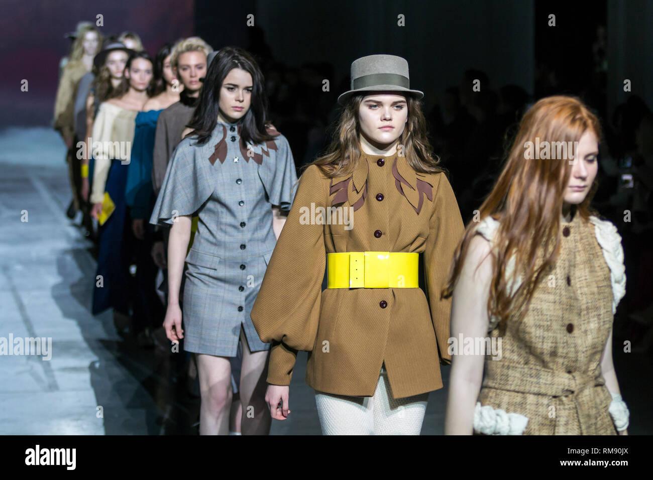 ba4e8940d0a KYIV, UKRAINE - FEBRUARY 4, 2019: KATERINA RUTMAN collection show during Ukrainian  Fashion Week 19-20 at Mystetsky Arsenal in Kyiv