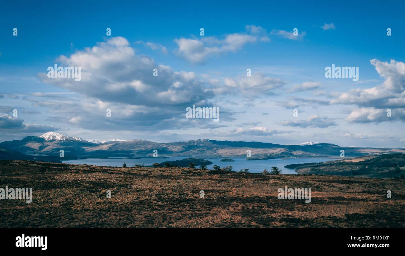 Loch Lomond in Spring - Stock Image