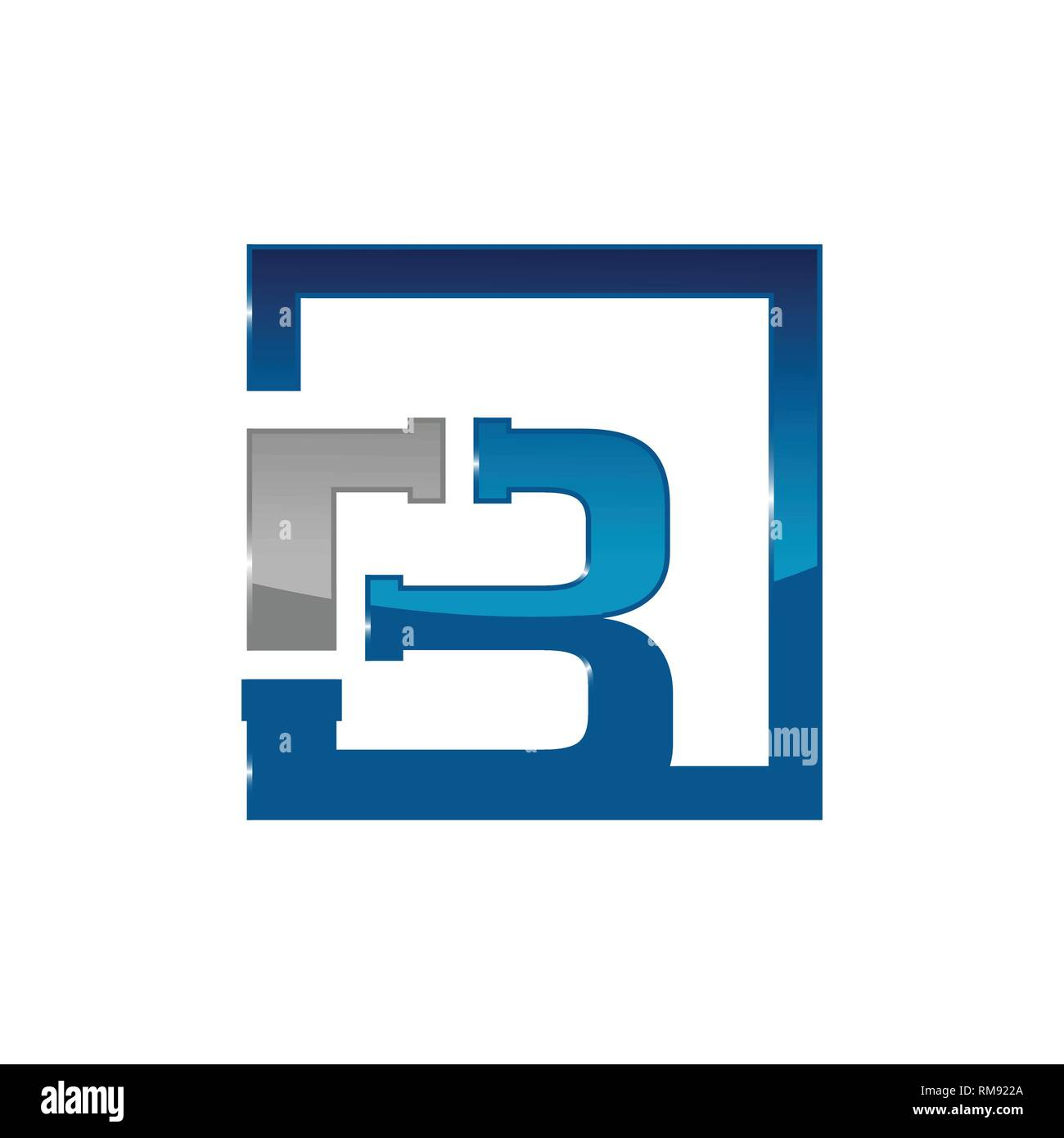 Letter B plumbing company logo vector concept. Simple and stylish logotype - Stock Vector
