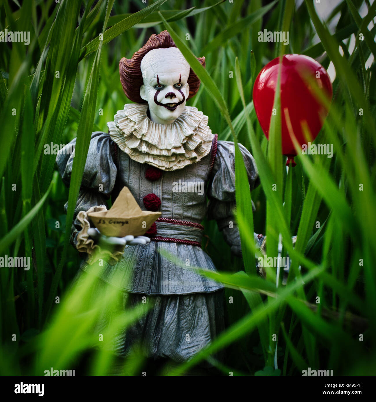 Pennywise The dancing Clown, we all float down here. - Stock Image
