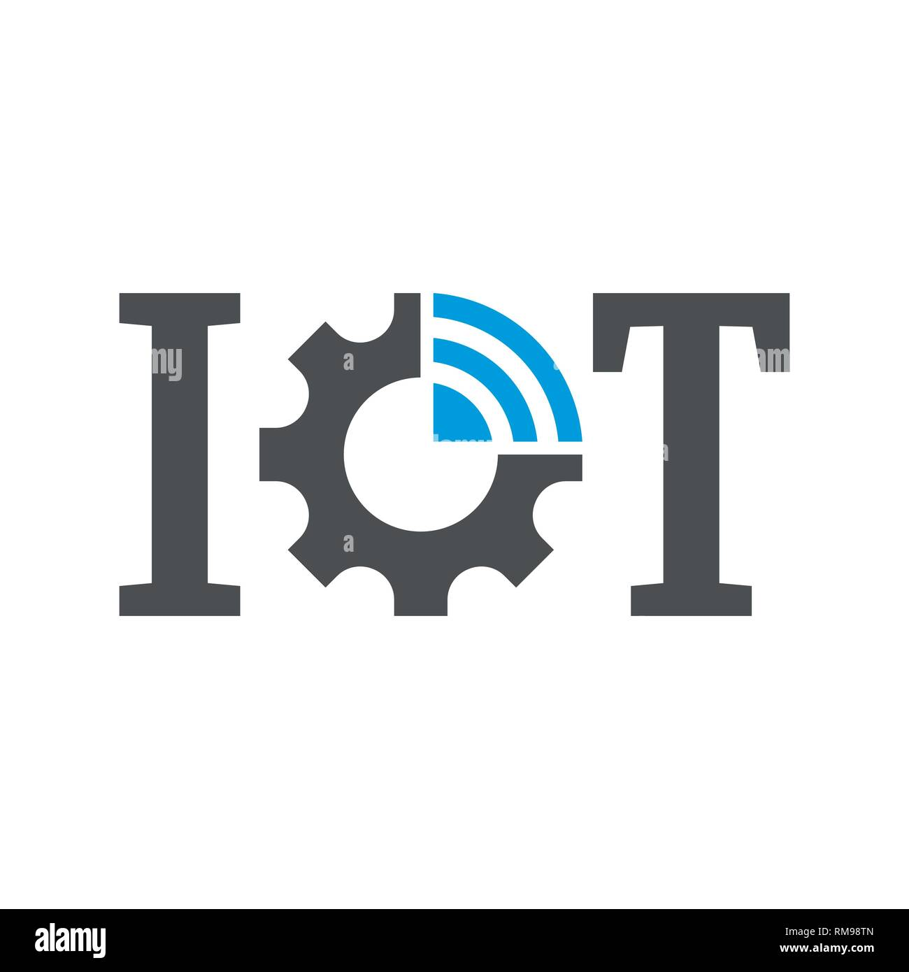 IOT, internet of things. Vector symbol for UI and UX, website or mobile application. EPS 10 - Stock Image