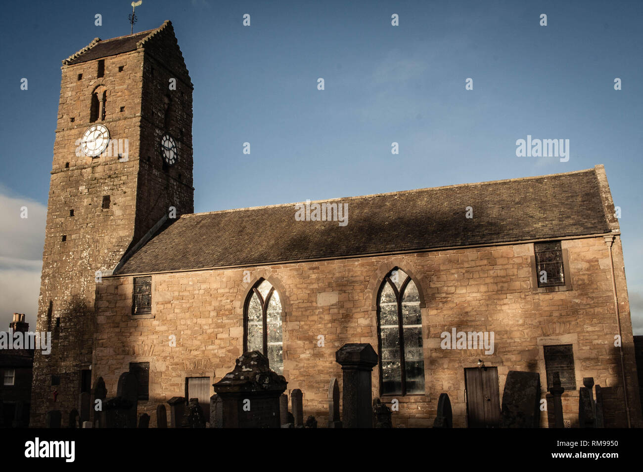 St Serf's Church, Dunning, Perthshire, Scotland - Stock Image