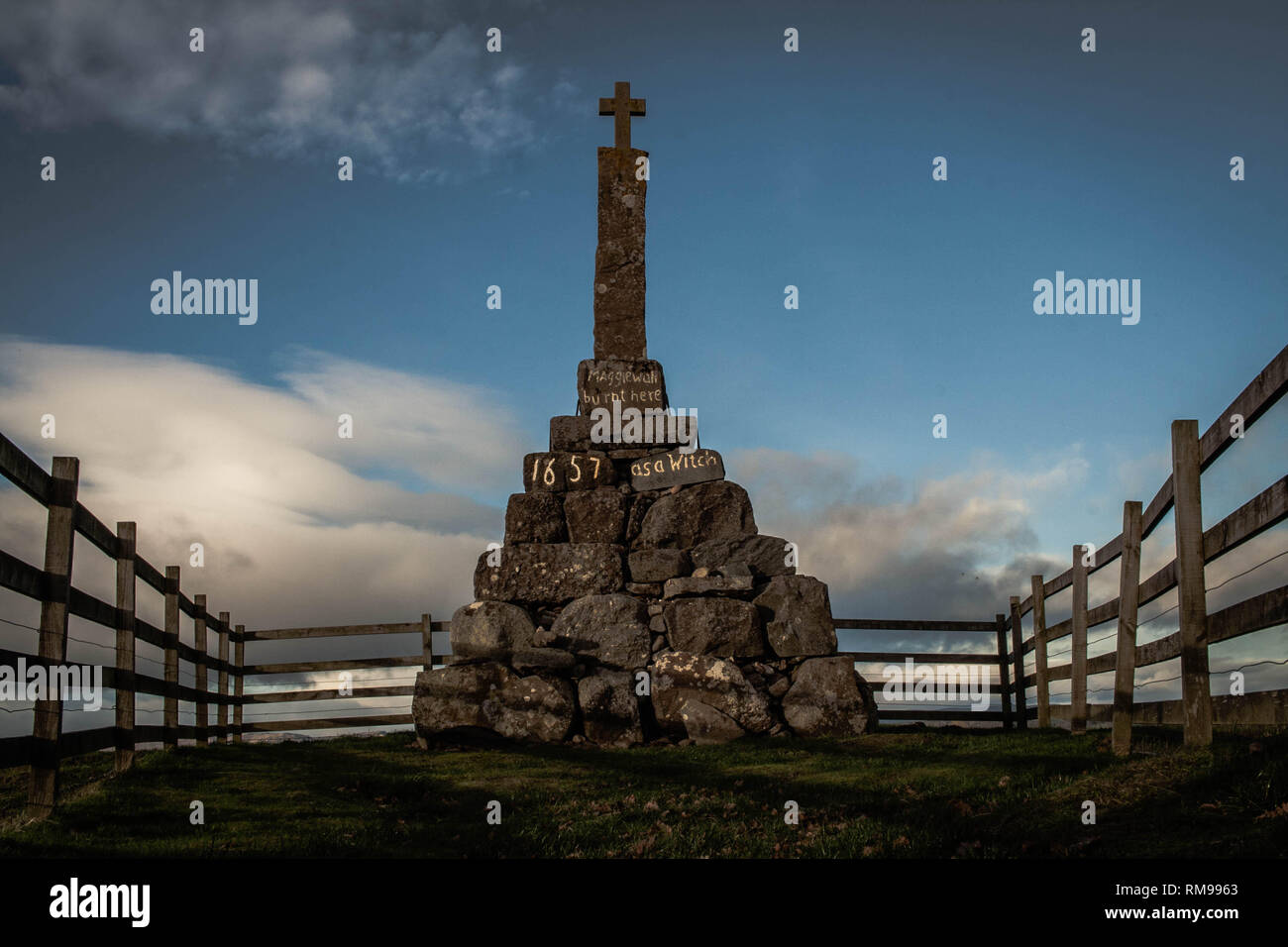 Maggie Wall Memorial, Dunning, Perthshire, Scotland Stock Photo