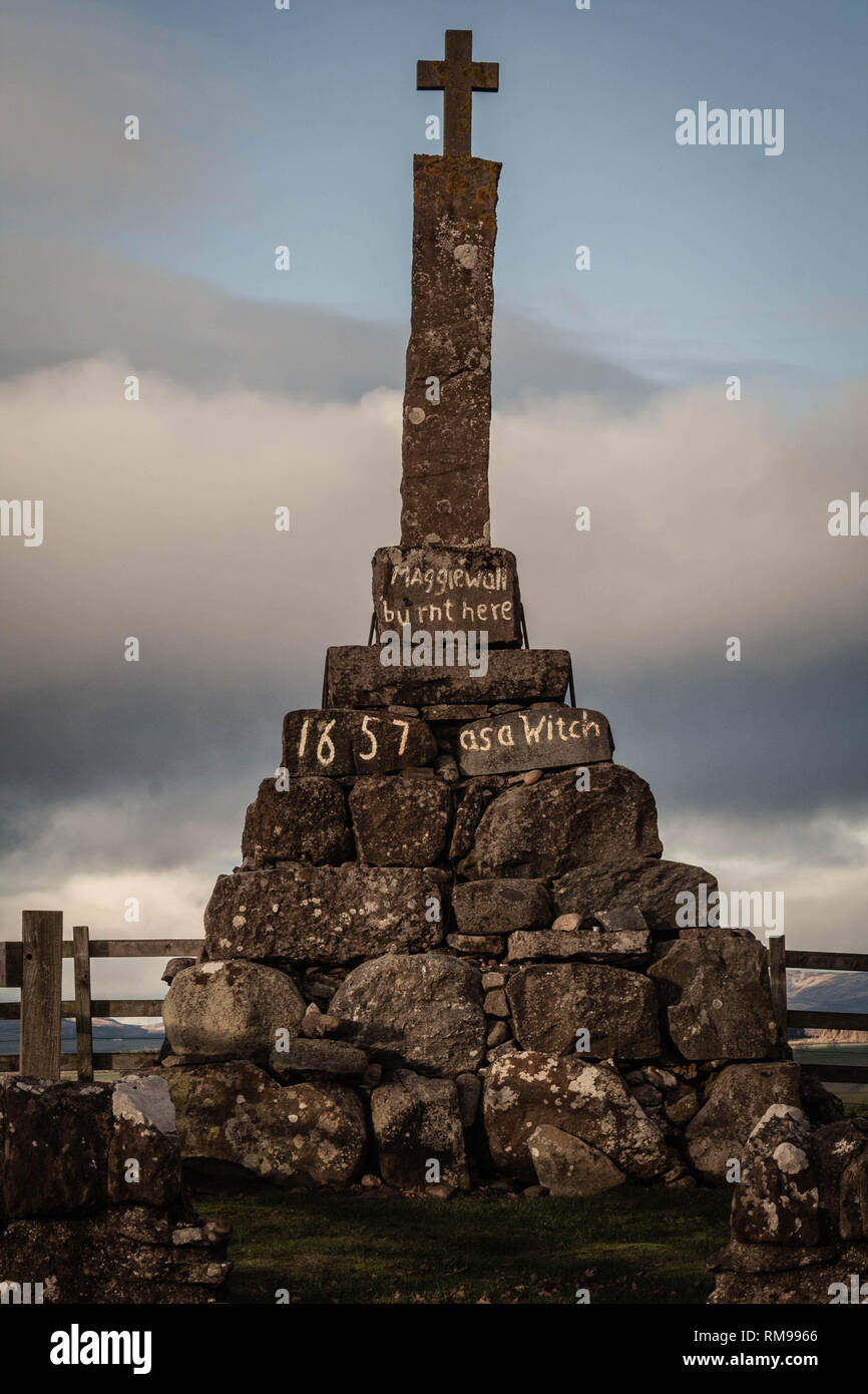 Maggie wall Memorial, Perthshire,Scotland Stock Photo