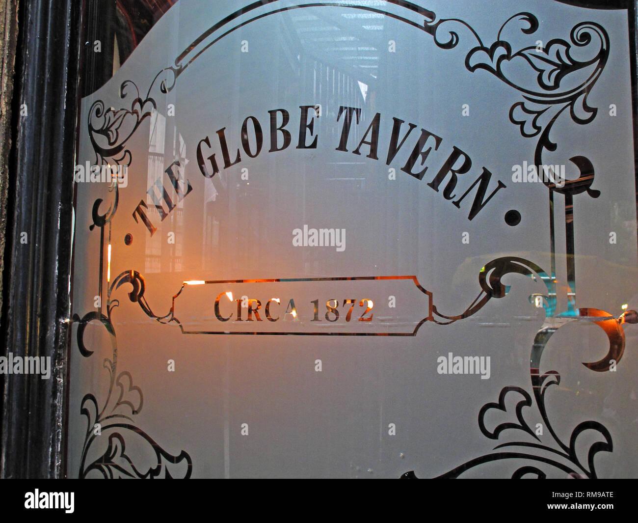 The Globe Tavern Circa 1872 pub, 8 Bedale St, London, England, UK,  SE1 9AL - Stock Image