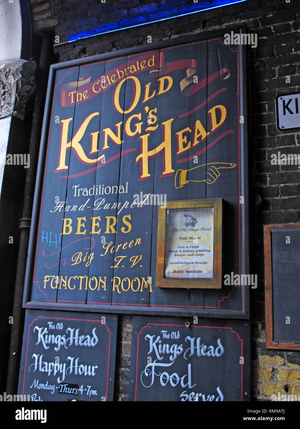 Old Kings Head Pub, Southwark - King's Head Yard, Greater London, South East England, UK,  SE1 1NA - Stock Image