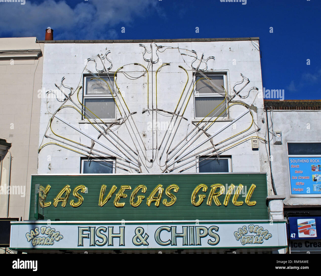 Las Vegas Grill, Southend, seafood, 46 Marine Parade, Southend-on-Sea SS1 2EN - Stock Image