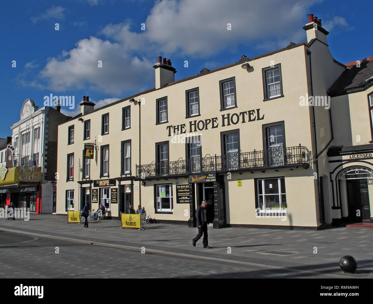 The Hope Hotel pub, Southend on sea, 34 Marine Parade, Southend-on-Sea SS1 2EJ - Stock Image