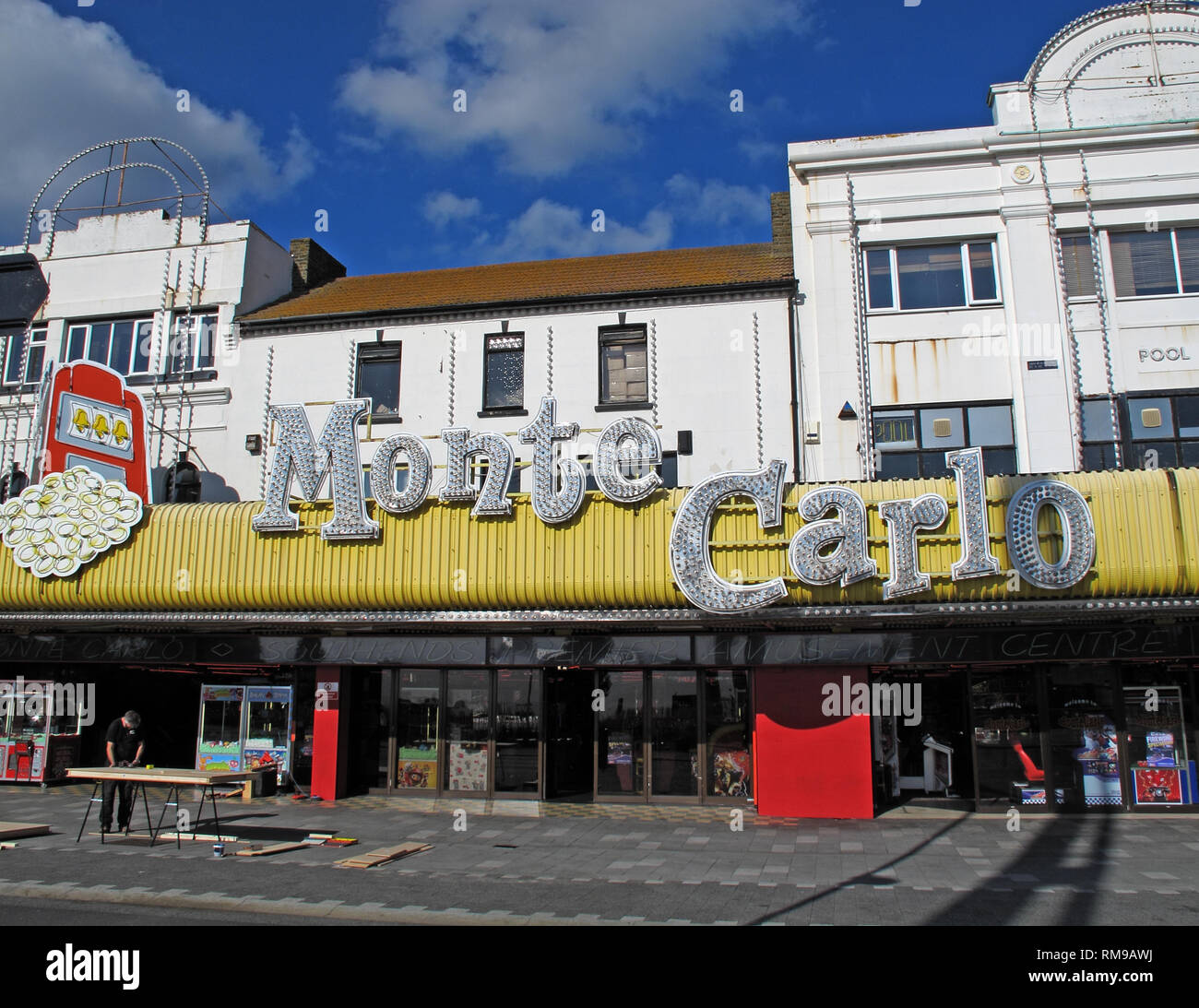 Monte Carlo Amusement Arcade, Marine Parade, Southend-on-sea, Essex, South East England, UK, SS1 2EJ - Stock Image