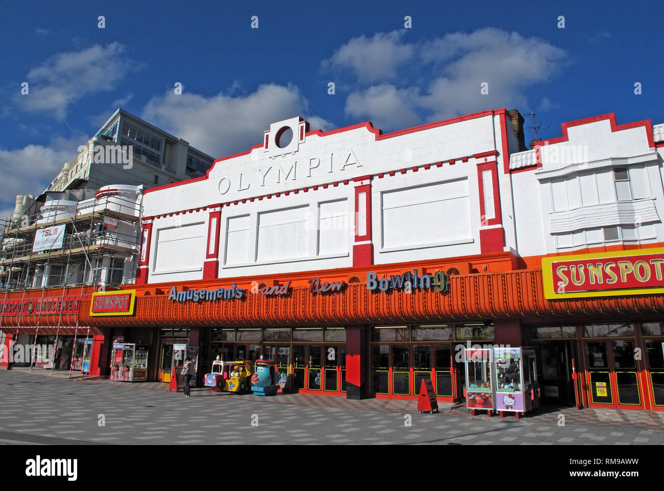 Olympia, Southend, Sunspot ,beachfront ,arcades, Amusements, Bowling, Essex, England, UK - Stock Image