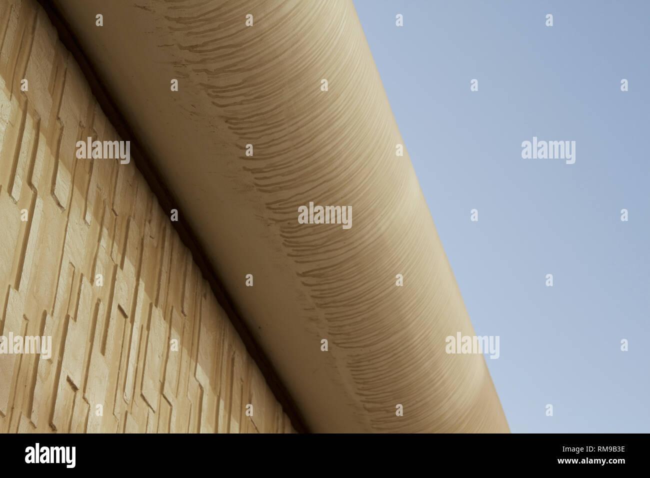 Dubai-Al Emreef street bridge support 4 - Stock Image