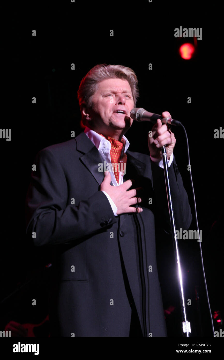 Singer, songwriter, bass guitar player and producer Peter Cetera is shown performing 'live' in concert. - Stock Image