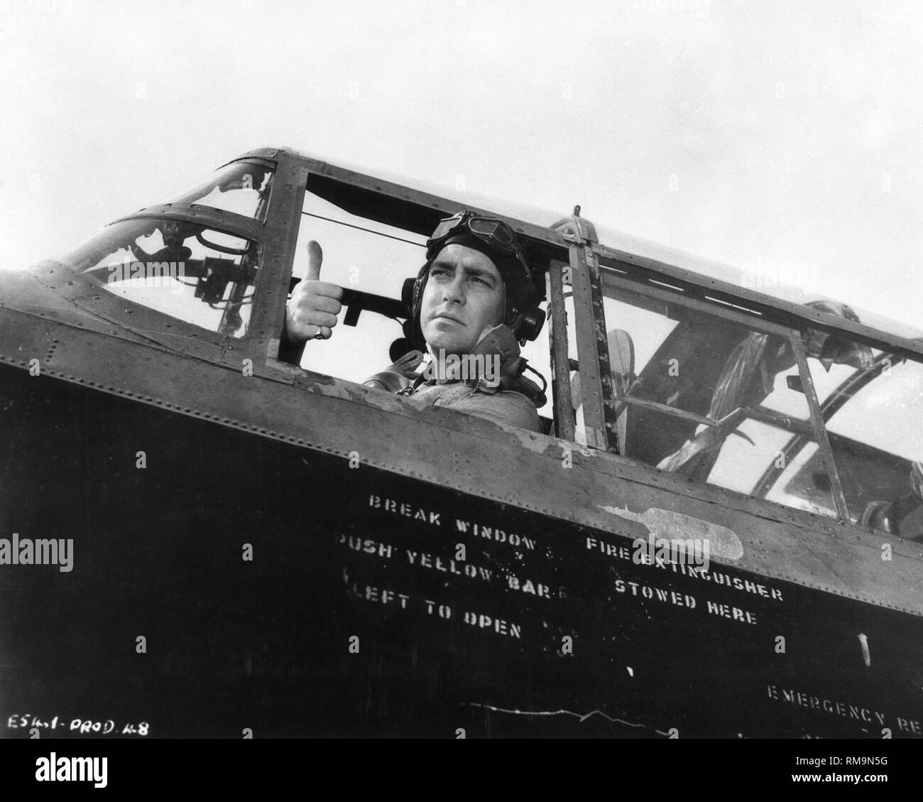The Dam Busters Richard Todd as Guy Gibson director Michael Anderson 1954  World War Two Associated British - Stock Image