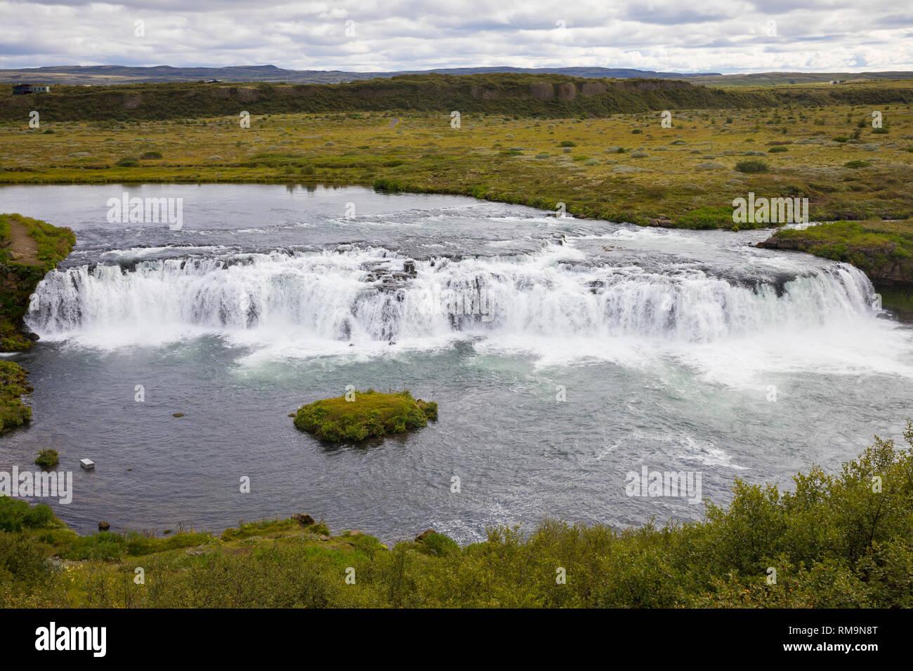 Faxi-Wasserfall, Vatnsleysufoss, Faxafoss, Fluß Tungufljót - Stock Image
