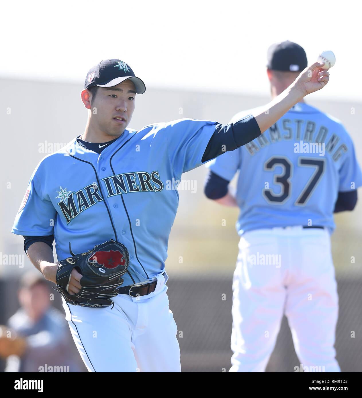 check out 4a2b4 b5228 Seattle Mariners pitcher Yusei Kikuchi during a spring ...