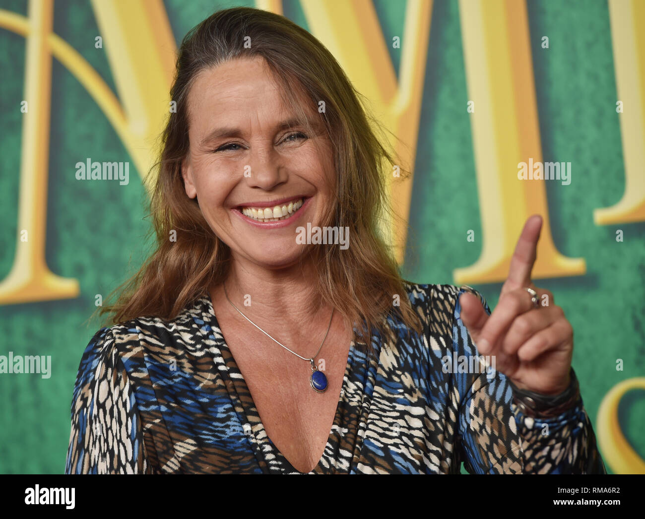 14 February 2019, Bavaria, München: The actor and author Marie Theres Kroetz-Relin comes to the premiere of the musical 'Die fabelhafte Welt der Amelie' in Werk 7 Theater. Photo: Angelika Warmuth/dpa - Stock Image