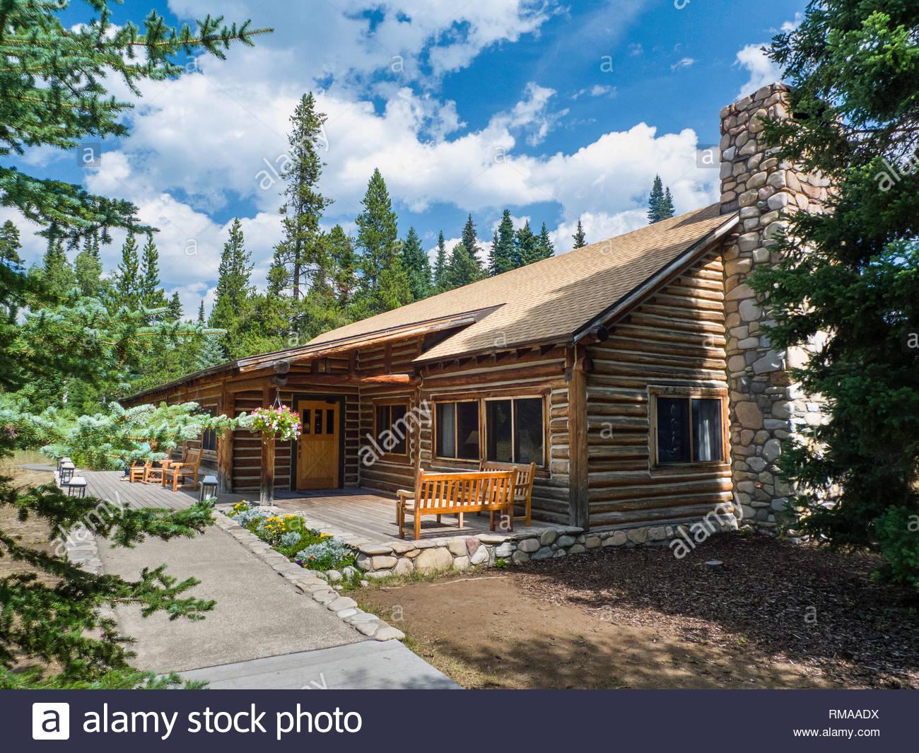 Jenny Lake Lodge Grand Teton National Park Teton County Wyoming Usa Stock Photo Alamy