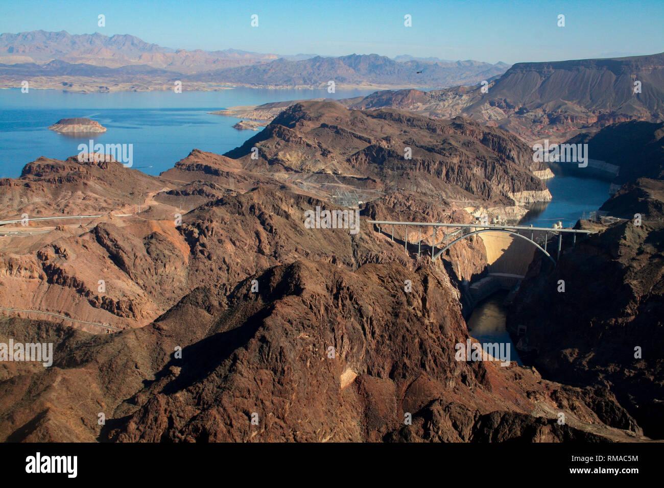 Hoover Dam in Nevada, USA Stock Photo