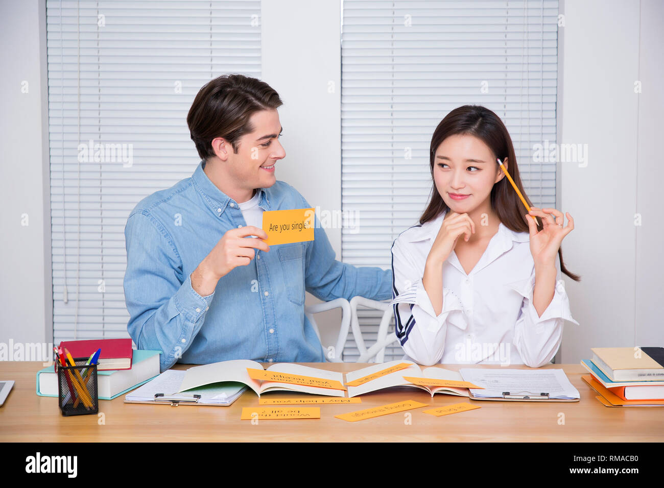 Conceptual photo study another foreign language on/off line verbal courses 041 - Stock Image