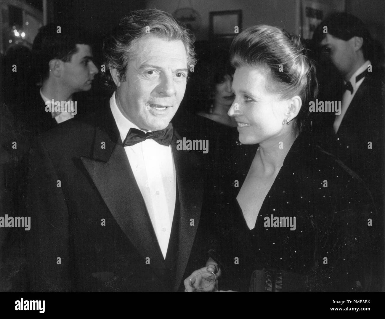 bbf3b46314 Marcello Mastroianni and Hanna Schygulla at the European Film Awards  ceremony. - Stock Image