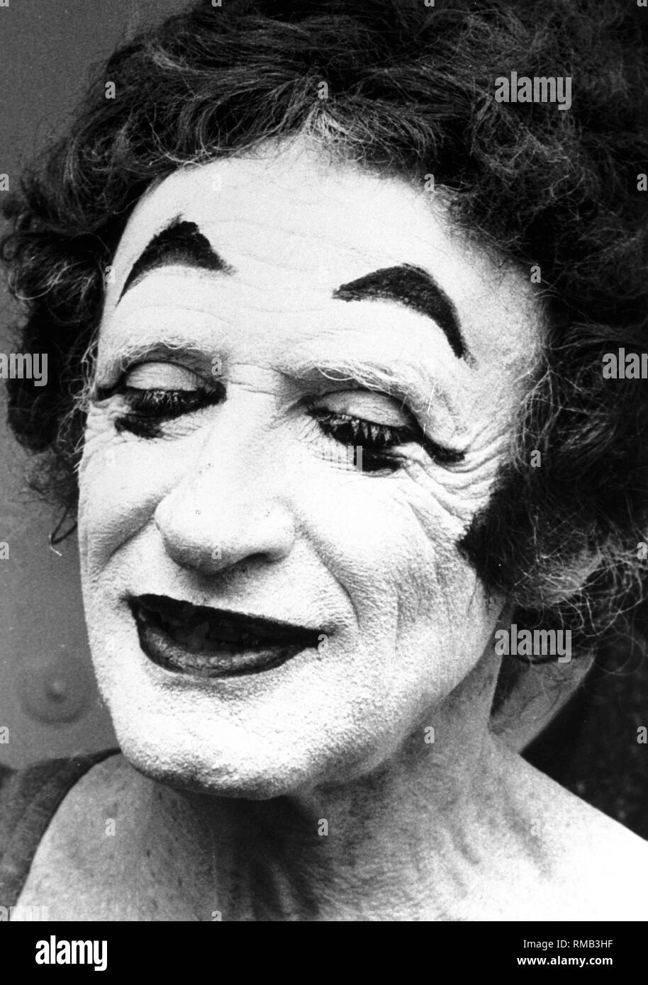 The French pantomime Marcel Marceau. - Stock Image