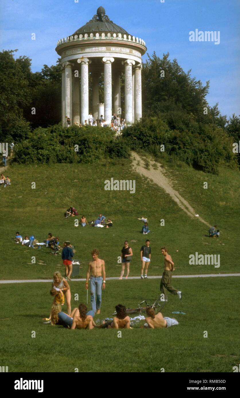 View Of The Monopteros In The Englischer Garten Commissioned By