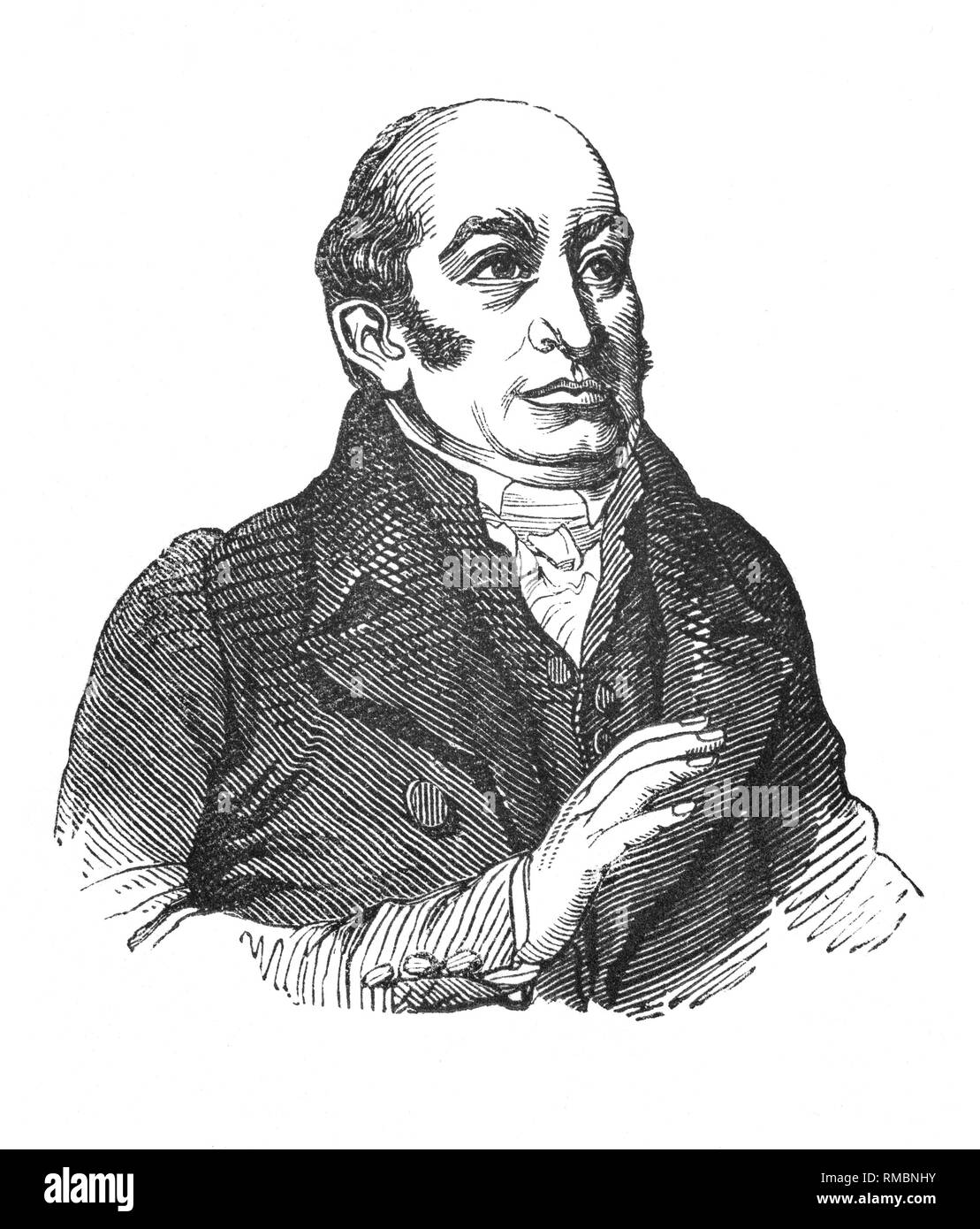 The Rev. Robert Hall (2 May 1764 – 21 February 1831) was an English Baptist minister, writer, social reformer, and an outstanding preacher.  In 1790 Hall became pastor of a church at Cambridge, where he remained for 15 years and acquired a reputation for his fine, often outspoken sermons. He advocated freedom of the press, was influenced by the French Revolution to speak against corrupt government, and in 1791 defended the reformer and scientist Joseph Priestley in his criticism of institutional Christianity. - Stock Image