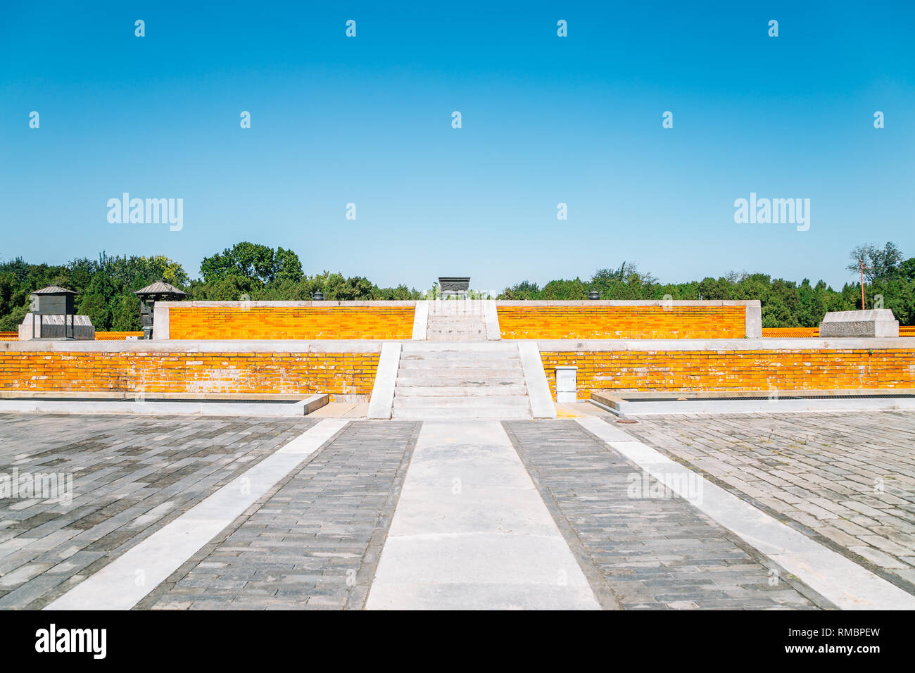 Temple of Earth, Ditan Park in Beijing, China - Stock Image