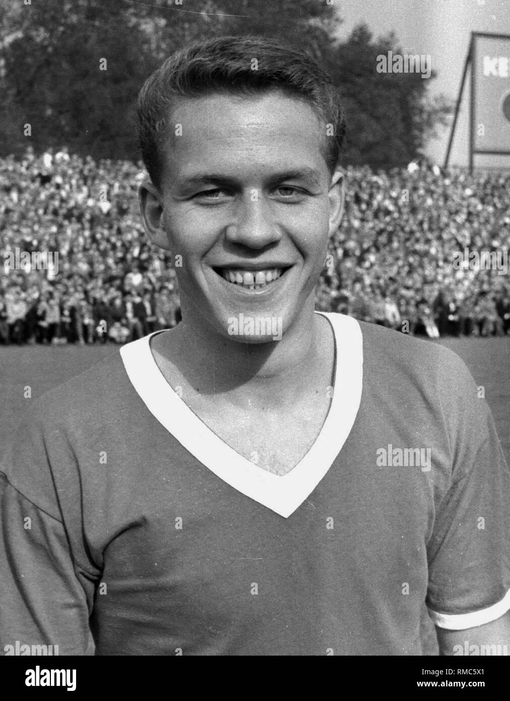 Football coach Otto Rehhagel in 1960 at Rot-Weiss Essen. For editorial use only! - Stock Image