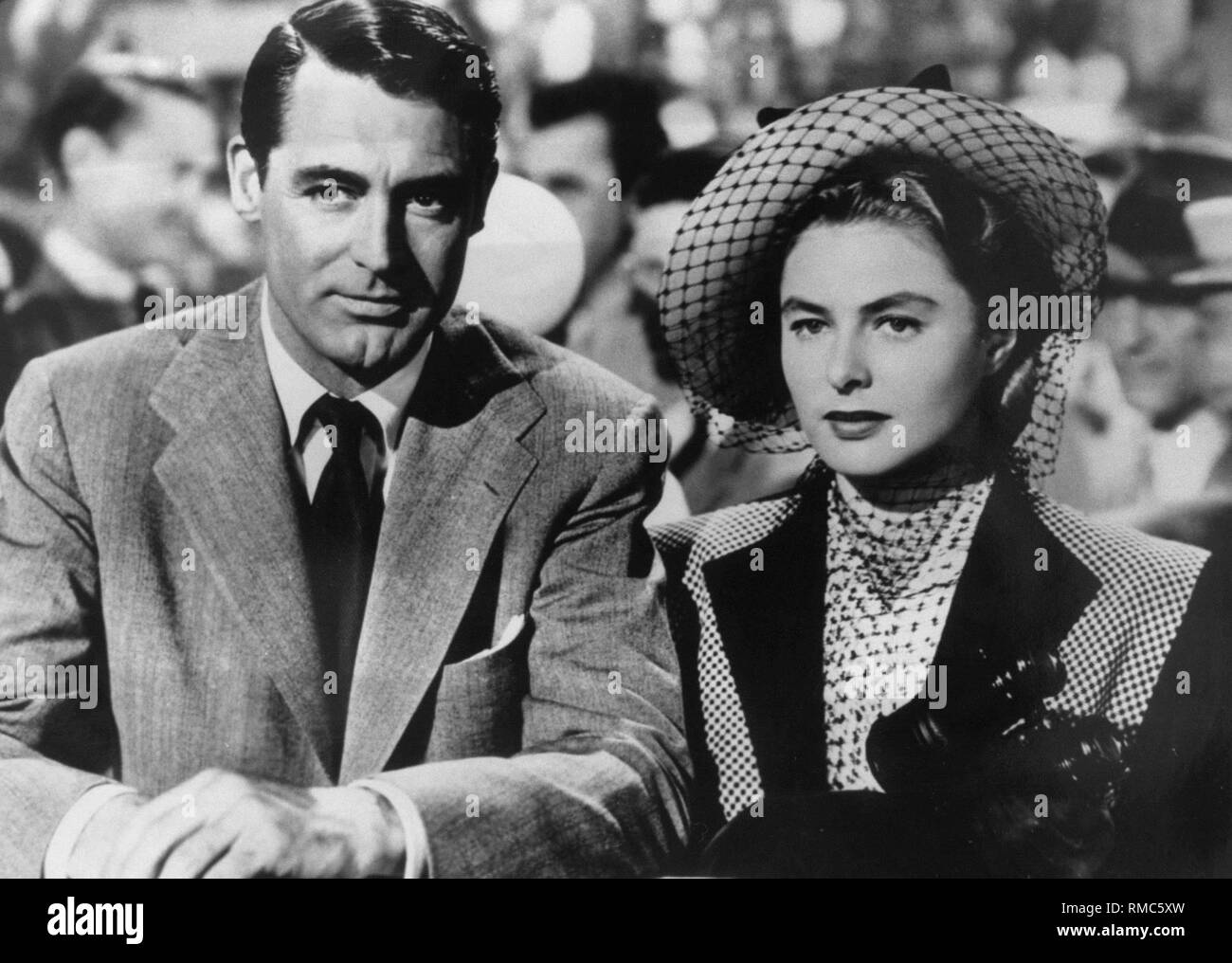 On August 29, 2002 was the 20th death anniversary of actress Ingrid Bergman (photo: with Cary Grant). Born in Stockholm, the actress has become known for films such as 'Casablanca' or 'For Whom the Bell Tolls'. - Stock Image