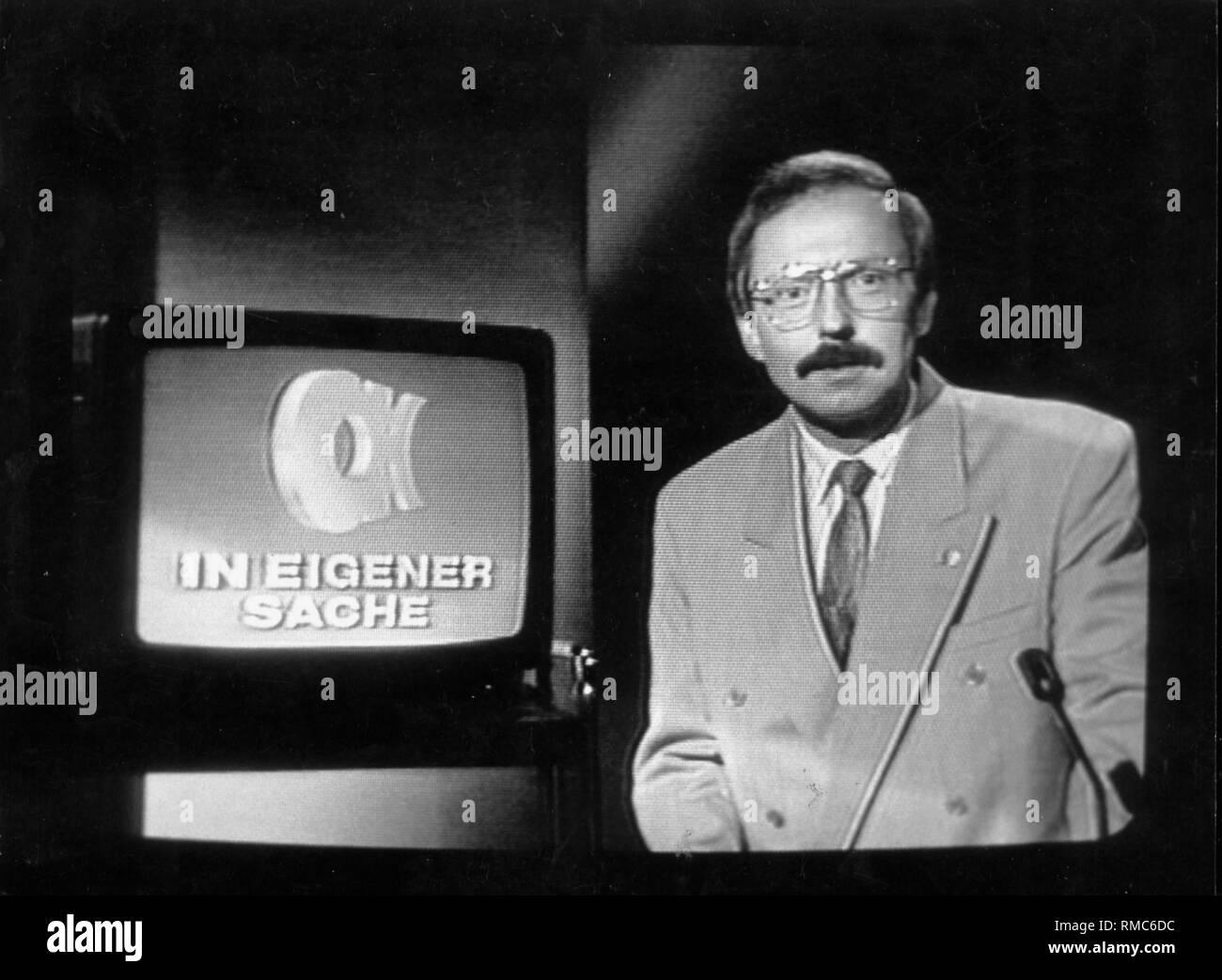 TV program in the GDR: Aktuelle Kamera. - Stock Image