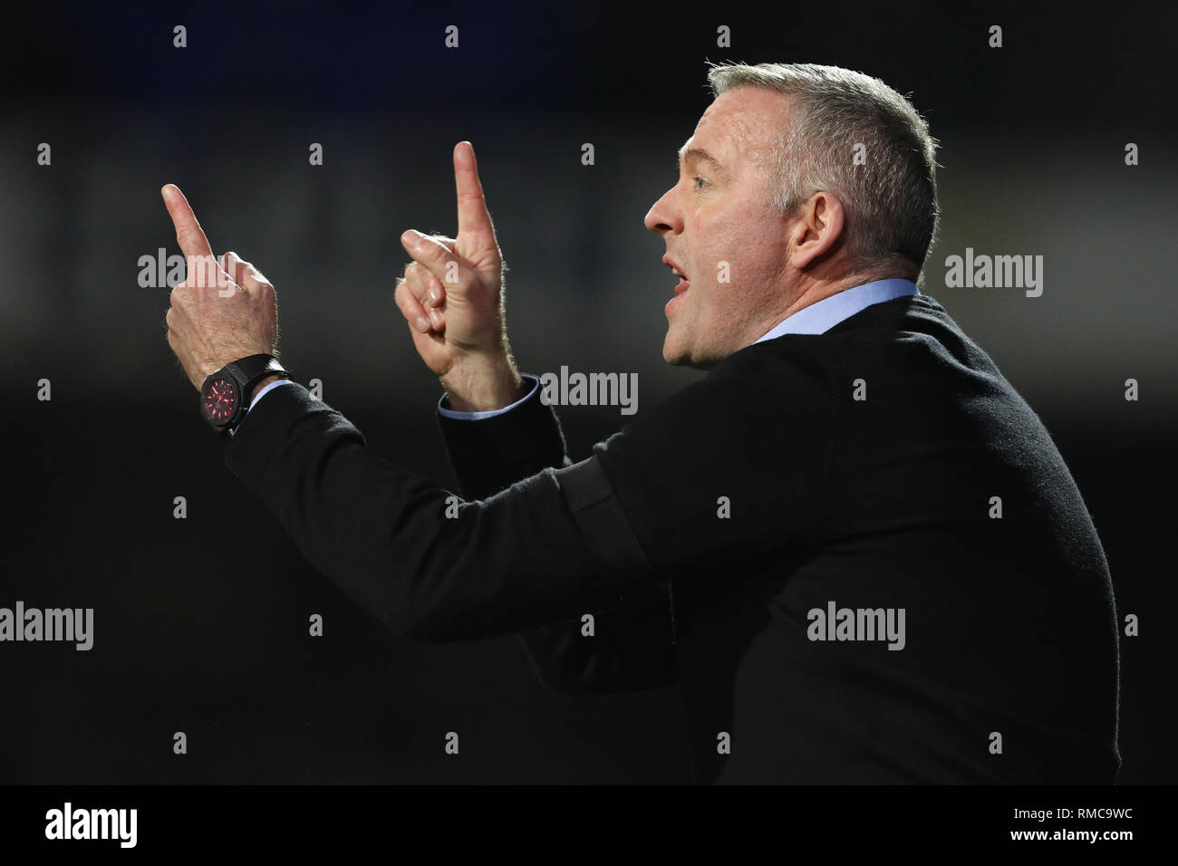 Manager of Ipswich Town, Paul Lambert shouts interactions to his players - Ipswich Town v Derby County, Sky Bet Championship, Portman Road, Ipswich -  - Stock Image