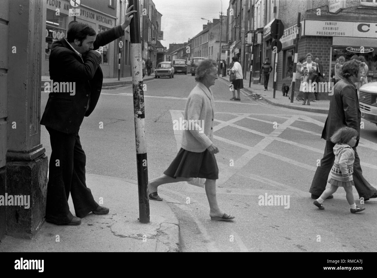Limerick 1970s in County Limerick, Eire.  West Coast of Southern Ireland 70s HOMER SYKES - Stock Image