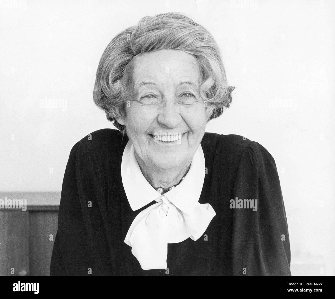 Ursula von Kardorff, a German journalist. - Stock Image