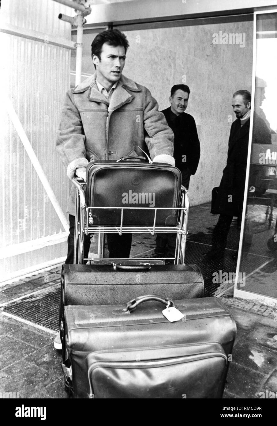 Clint Eastwood at the Munich-Riem Airport. - Stock Image