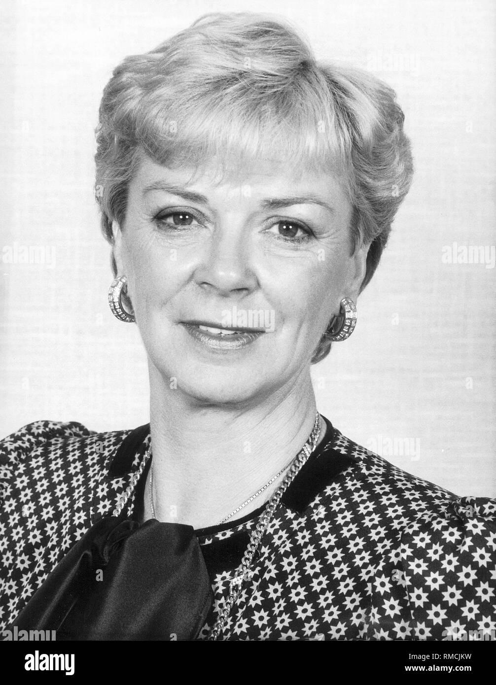 Liz Mohn, wife of Reinhard Mohn, the CEO of Bertelsmann. - Stock Image