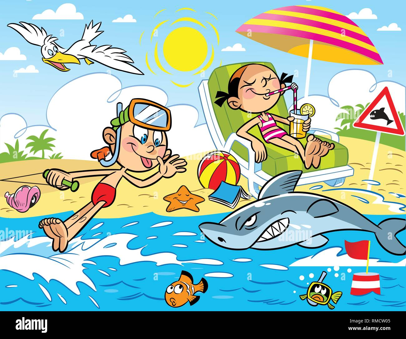 Cartoon Sunbathing Stock Photos Amp Cartoon Sunbathing Stock